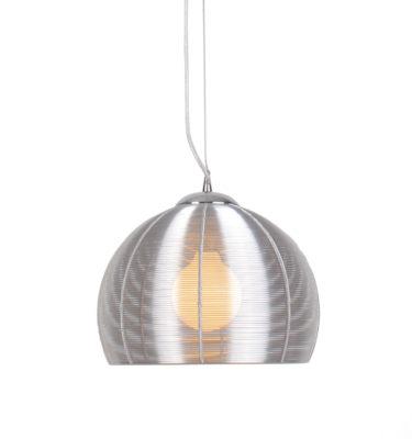Lenox 1 Light Round Modern Silver Pendant