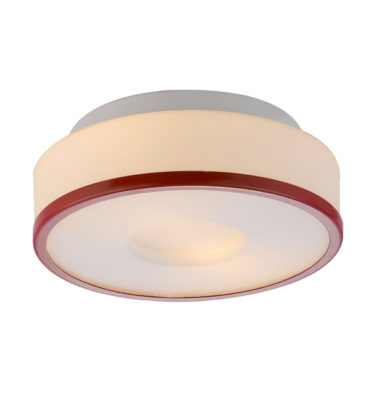 Lynch Opal w/Red Ring Flush Mount Ceiling Light