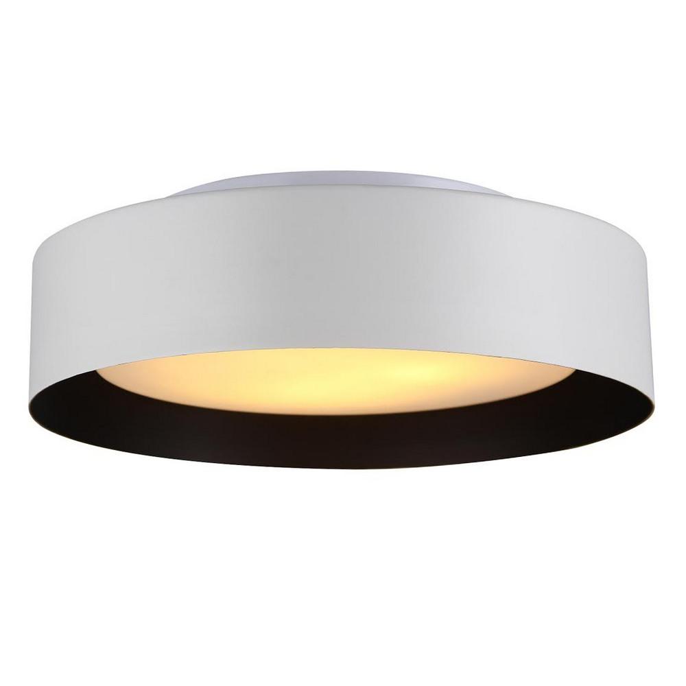 Lynch White Amp Black Flush Mount Ceiling Light Bromi Design