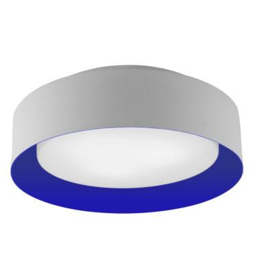 Lynch White & Blue Flush Mount Ceiling Light