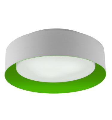 Lynch White & Green Flush Mount Ceiling Light
