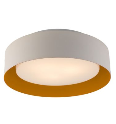 Lynch White Yellow Flush Mount Ceiling Light
