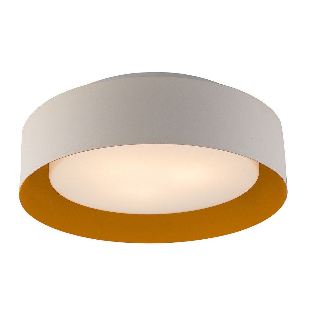 Lynch White Orange Flush Mount Ceiling Light