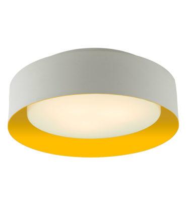 Lynch White & Yellow Flush Mount Ceiling Light