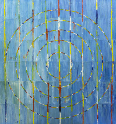 Circles Blue Wall Art