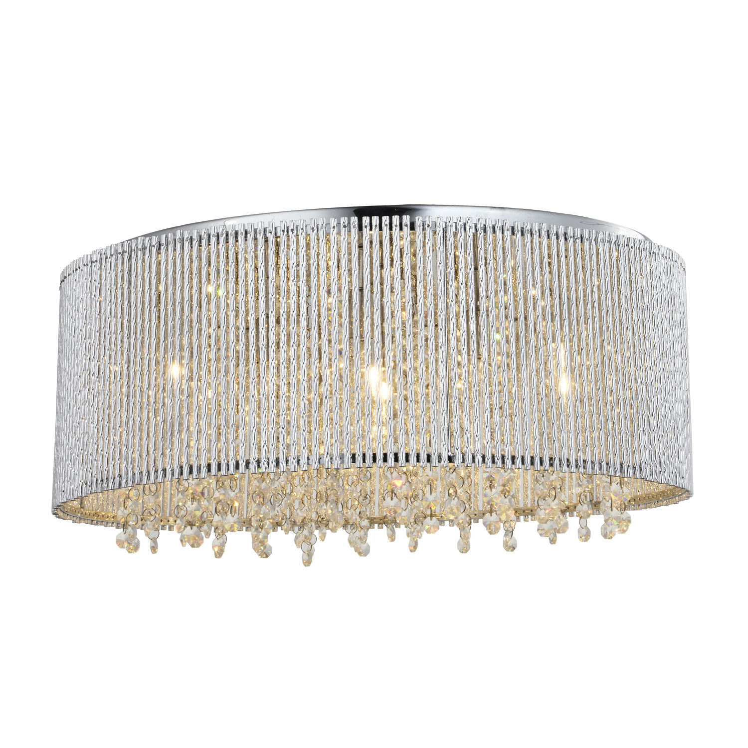 Crystalline round flush mount crystals chandelier bromi design crystalline round flush mount crystals chandelier arubaitofo Choice Image
