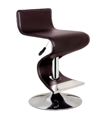 King Brown Adjustable Height Brown Bar Stool
