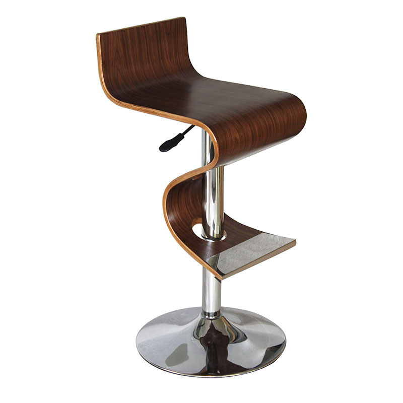 King Walnut Adjustable Height White Bar Stool Bromi Design