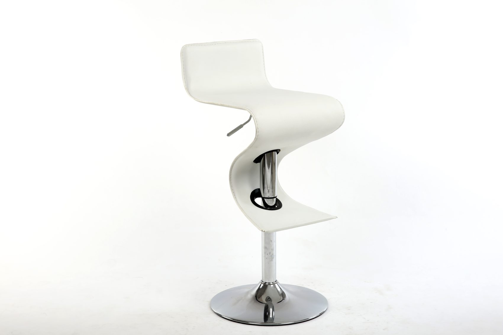 King White Adjustable Height White Bar Stool Bromi Design