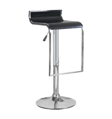 Hudson Black Adjustable Height Swivel Bar Stool