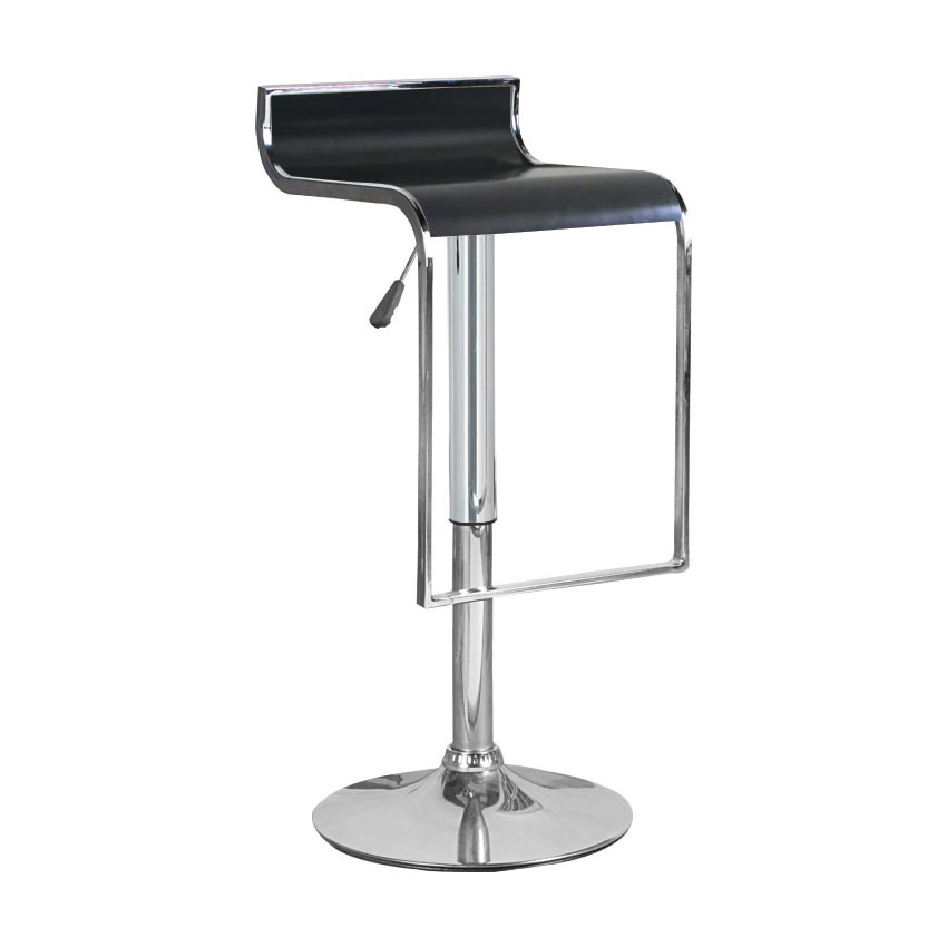 Hudson Black Adjustable Height Swivel Bar Stool Bromi Design
