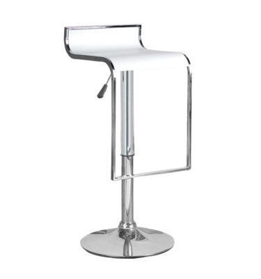 Hudson White Adjustable Height Swivel Bar Stool