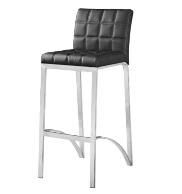 Lincoln Black Bar Stool