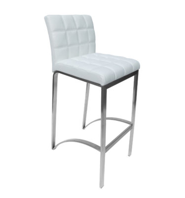 Lincoln White Bar Stool