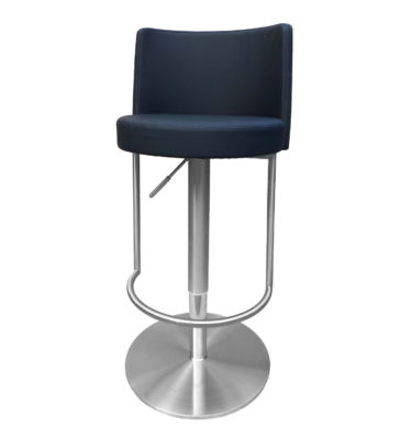 Bowery Black Adjustable Height Swivel Bar Stool