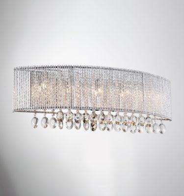 Crystalline Round 5 Light Wall Sconce