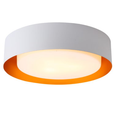 Lynch White and Gold Flush Mount Ceiling Light