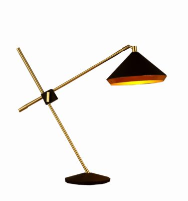Bromi Design Leo Black and Gold Table Lamp