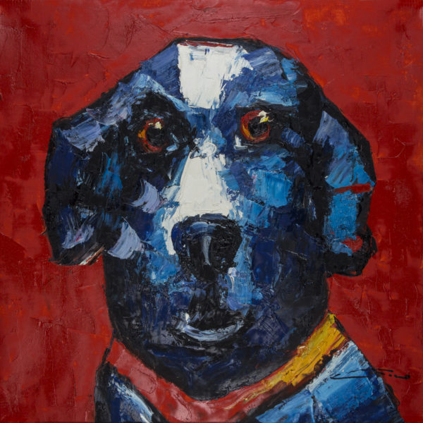Dog -Red Back Wall Art