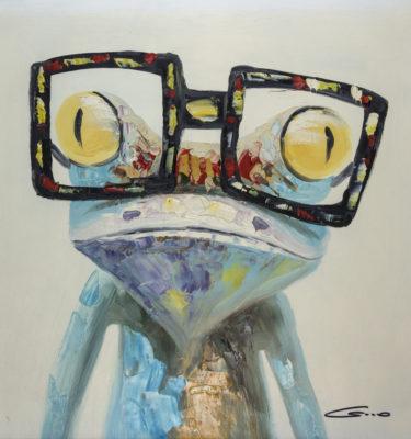 Frog Glasses Wall Art